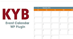 KYB Productions - Event Calendar Plugin