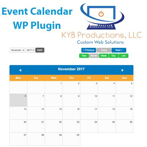 Event Calendar Plugin